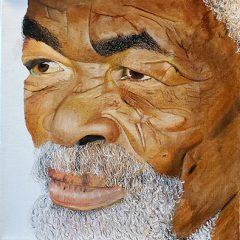 elderly Black man portrait