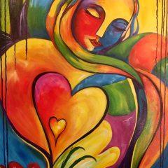 Woman with heart shape